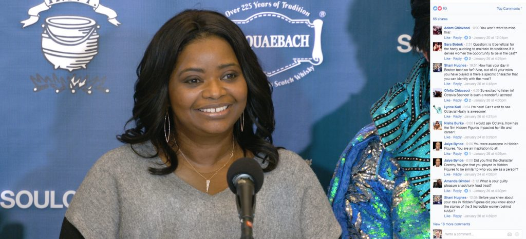 Online viewers submit questions for Octavia Spencer.