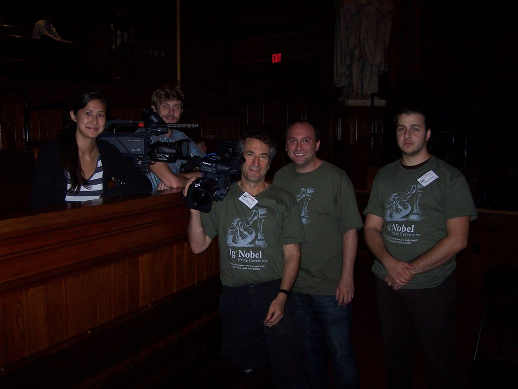Ig Nobel Awards Film Crew
